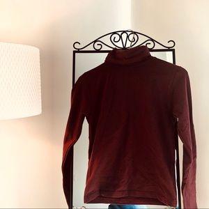 American apparel maroon turtle neck top